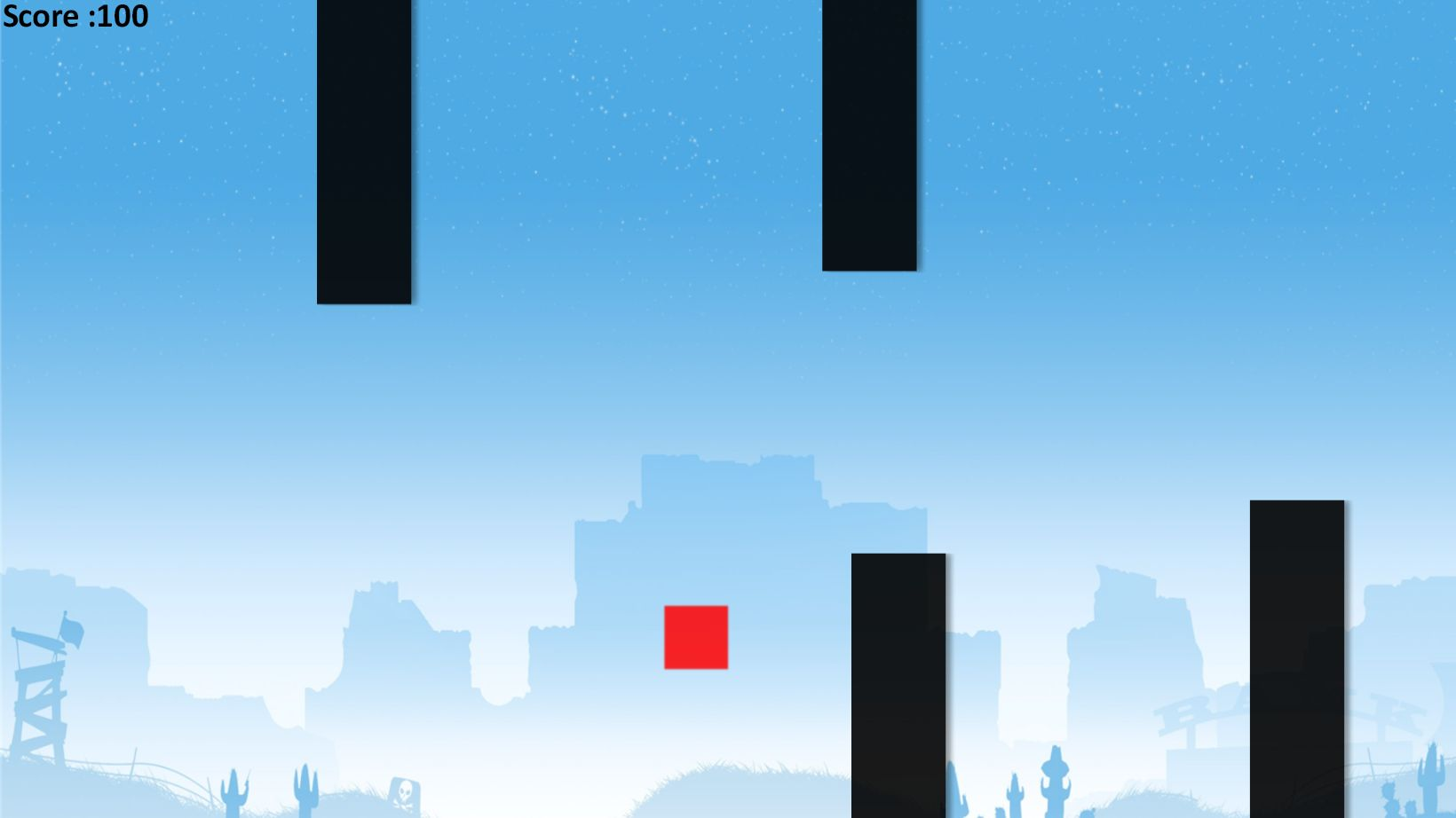 Flappy Block - HTML5 Game Construct 2 Screenshot 4