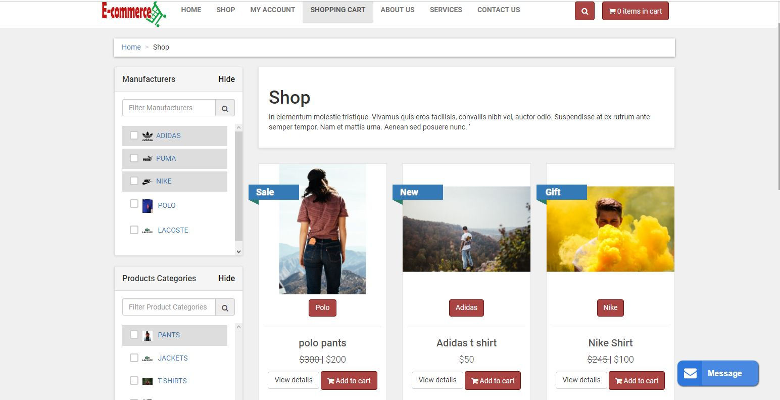 E-commerce Online Shop With PayPal Screenshot 3