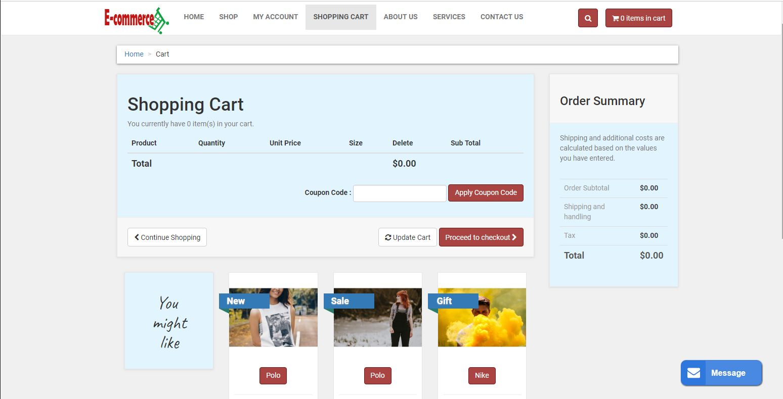 E-commerce Online Shop With PayPal Screenshot 4