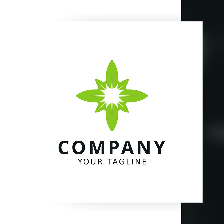 Leaf Compass Logo Template Screenshot 1