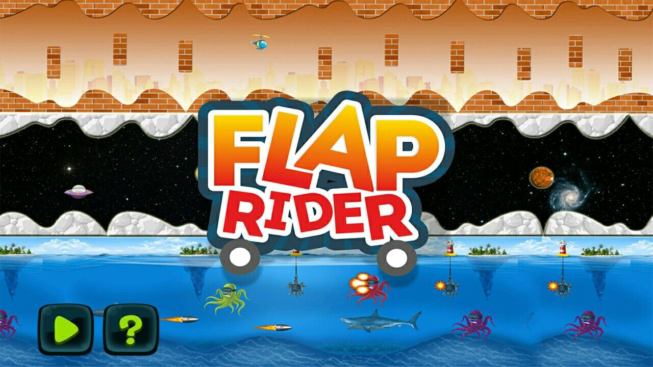 Flap Rider Buildbox Game Screenshot 1