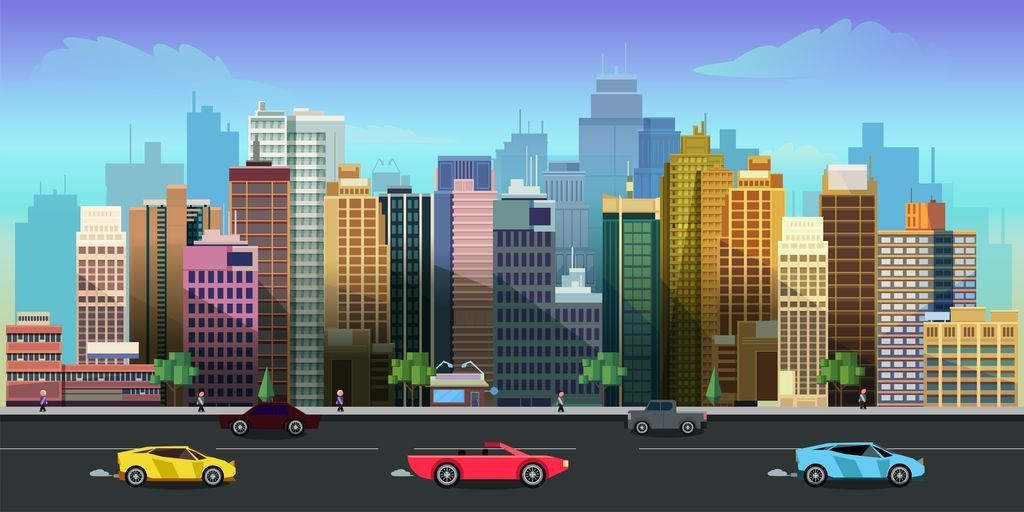 10 Urban Game Backgrounds Screenshot 1
