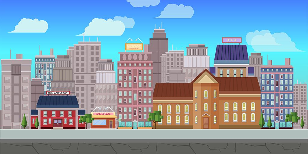 10 Urban Game Backgrounds Screenshot 2