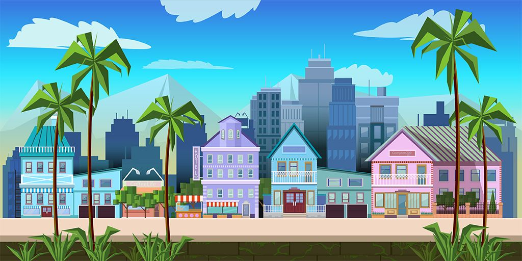 10 Urban Game Backgrounds Screenshot 5