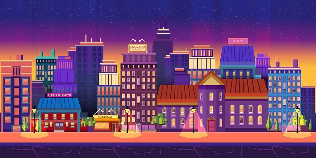 10 Urban Game Backgrounds Screenshot 6
