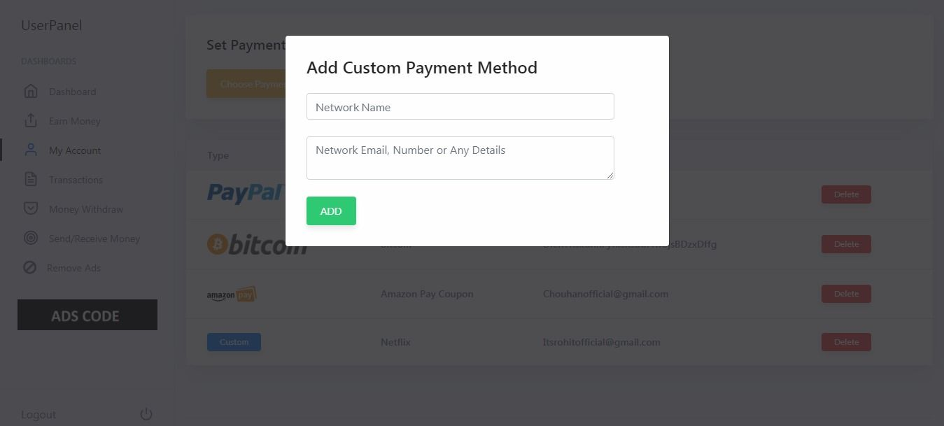 Refer and Earn PHP System Screenshot 15