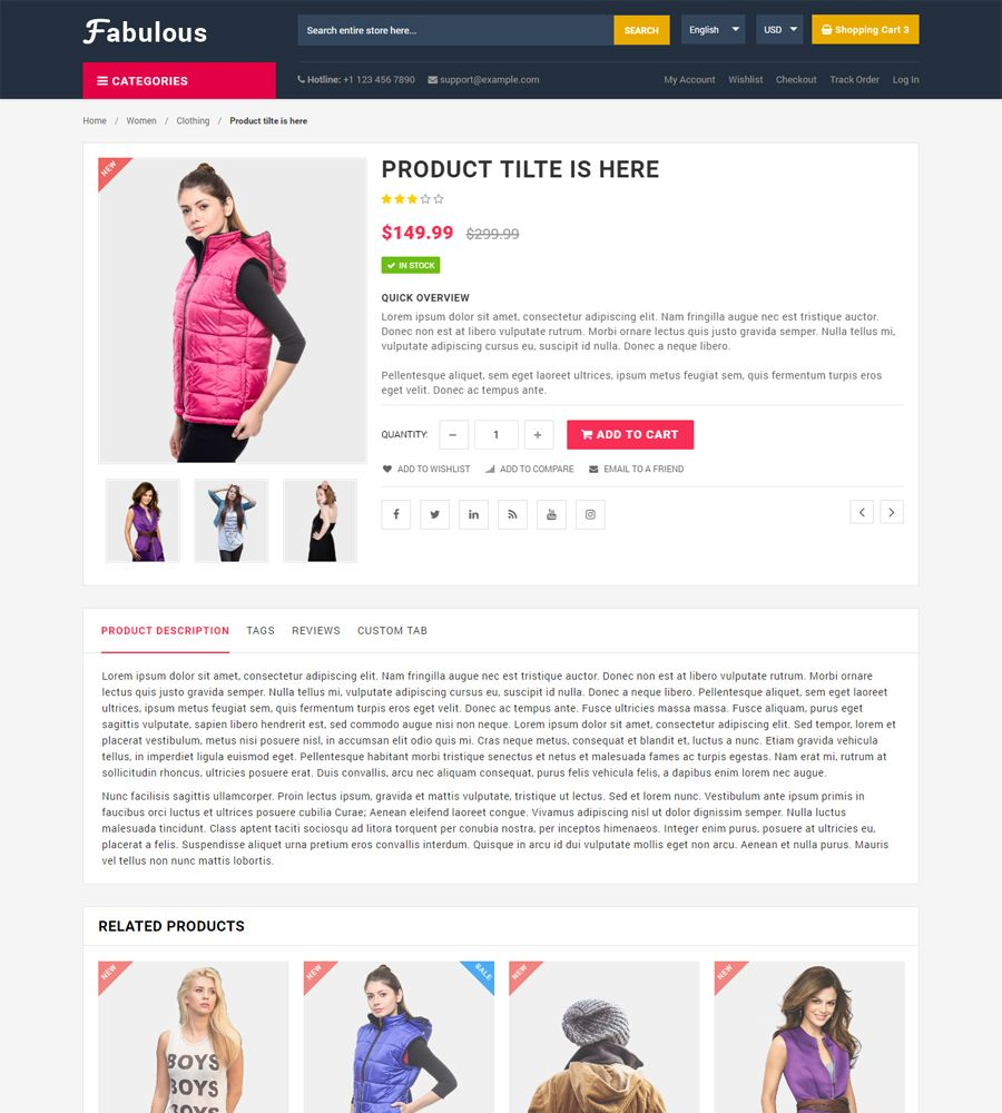 Fabulous - Multipurpose eCommerce HTML Template Screenshot 1