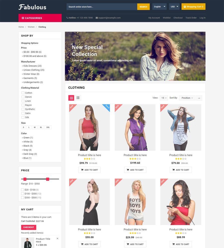 Fabulous - Multipurpose eCommerce HTML Template Screenshot 2