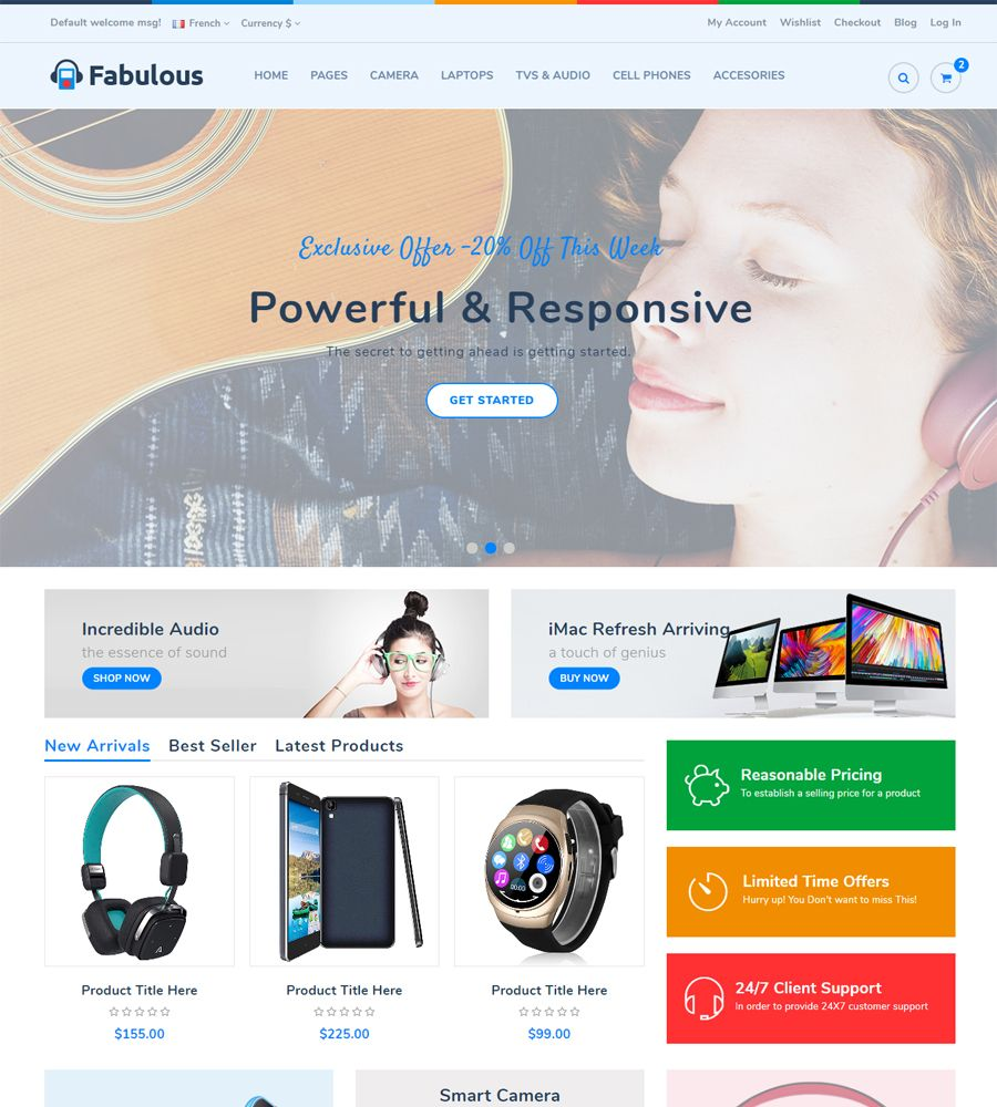Fabulous - Multipurpose eCommerce HTML Template Screenshot 4