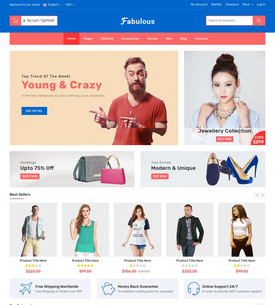 Fabulous - Multipurpose eCommerce HTML Template Screenshot 5