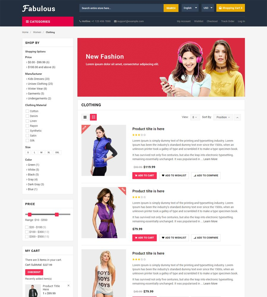 Fabulous - Multipurpose eCommerce HTML Template Screenshot 7