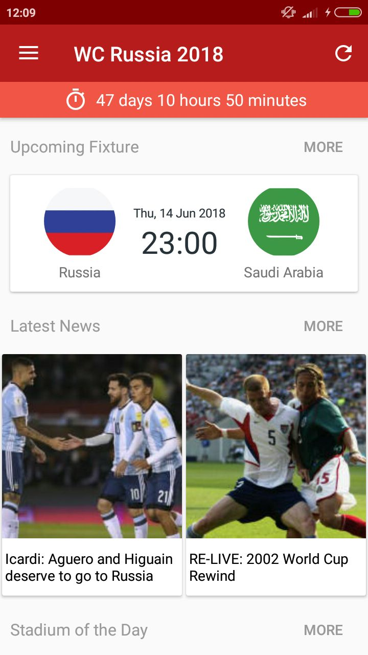 World Cup Russia 2018 Android Source Code Screenshot 1