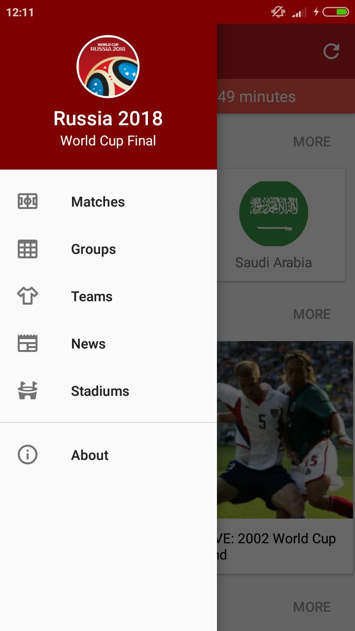 World Cup Russia 2018 Android Source Code Screenshot 2