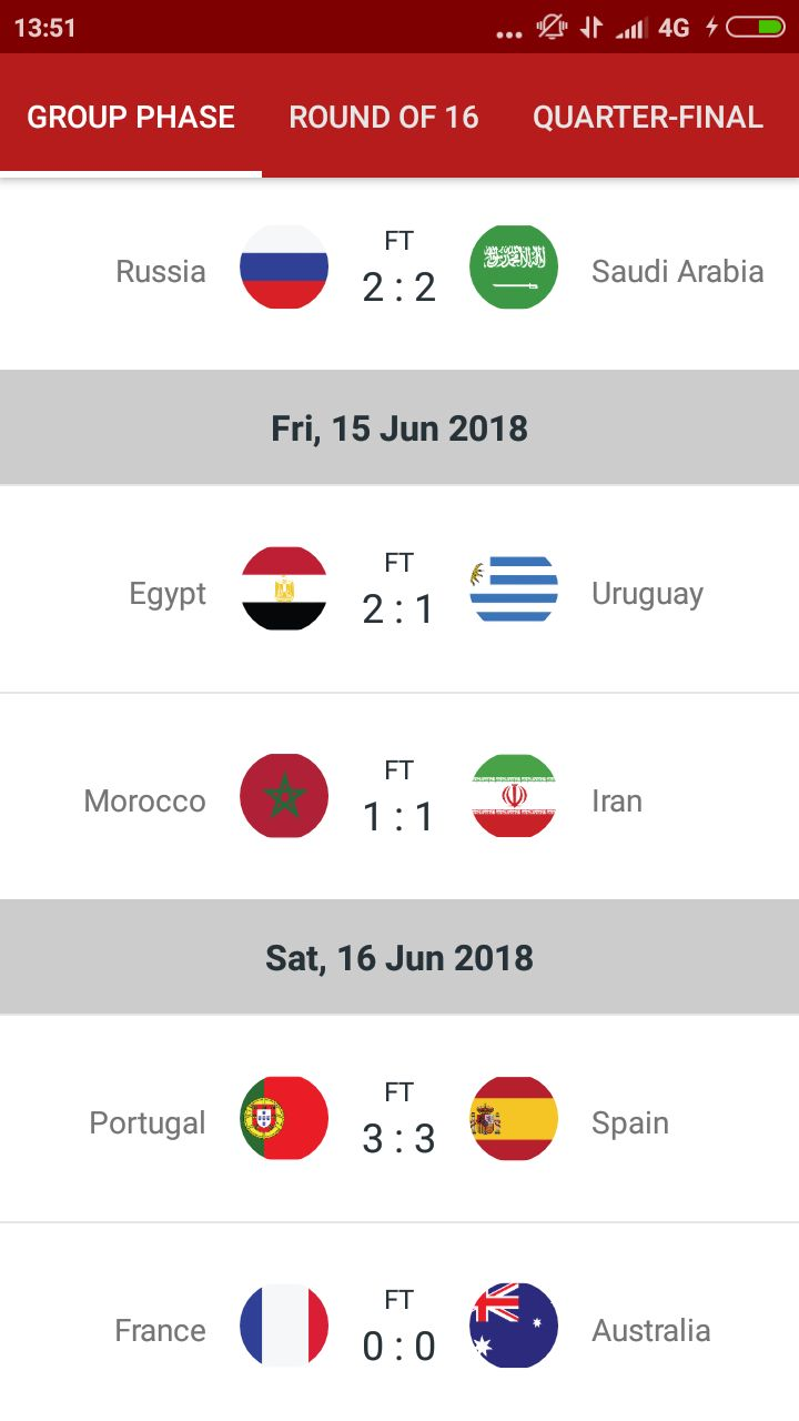 World Cup Russia 2018 Android Source Code Screenshot 3