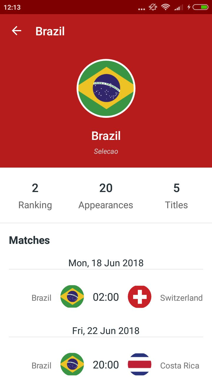 World Cup Russia 2018 Android Source Code Screenshot 6
