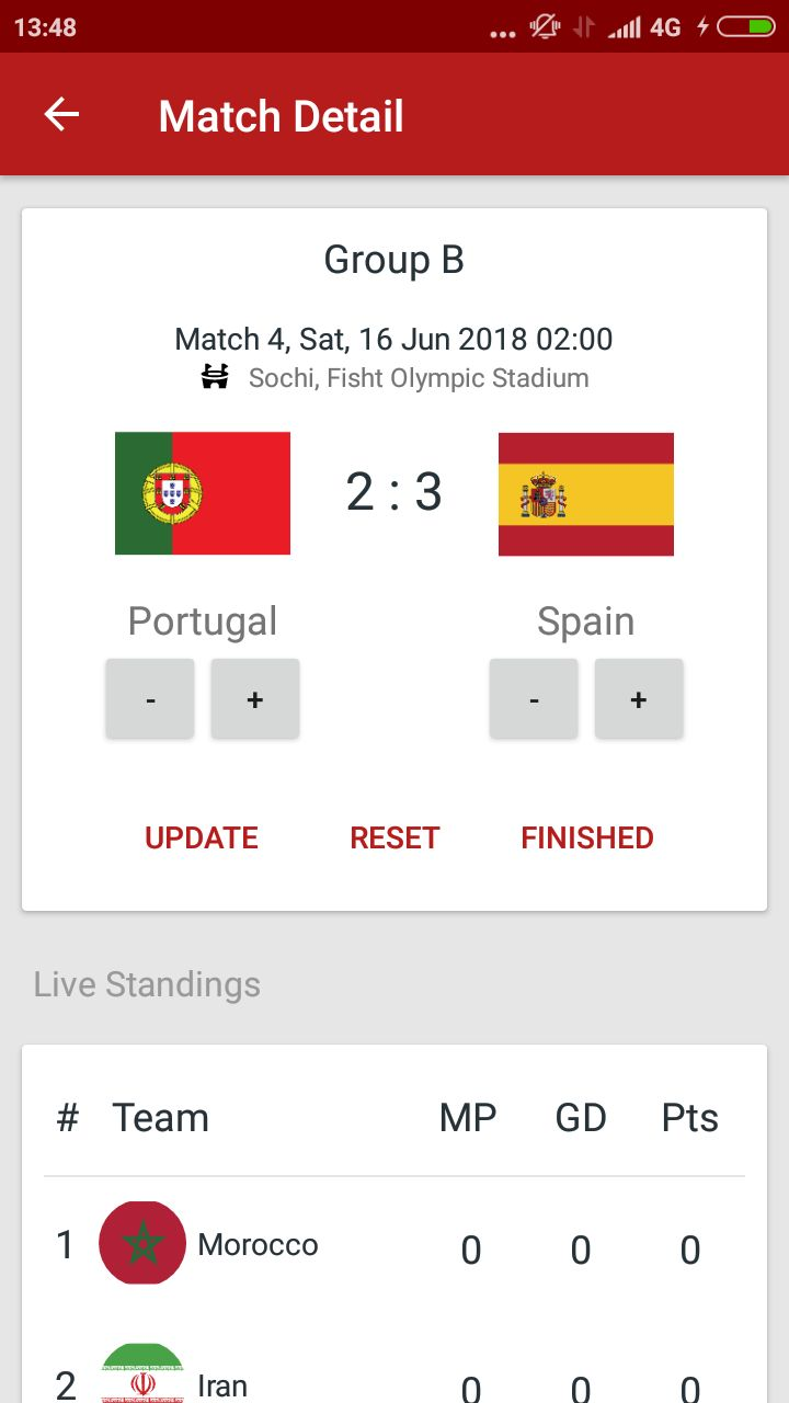 World Cup Russia 2018 Android Source Code Screenshot 8