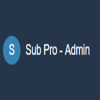 Sub Pro Premium Business Admin Template