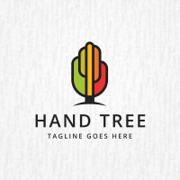 Hand Tree Logo Template