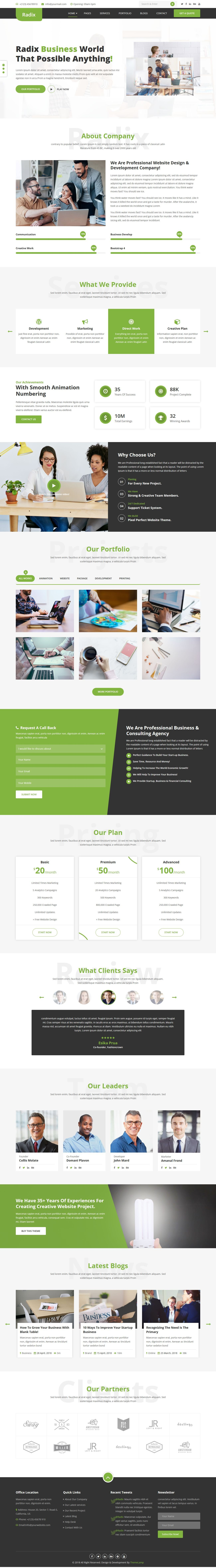 Radix - Multipurpose Consulting Template Screenshot 1
