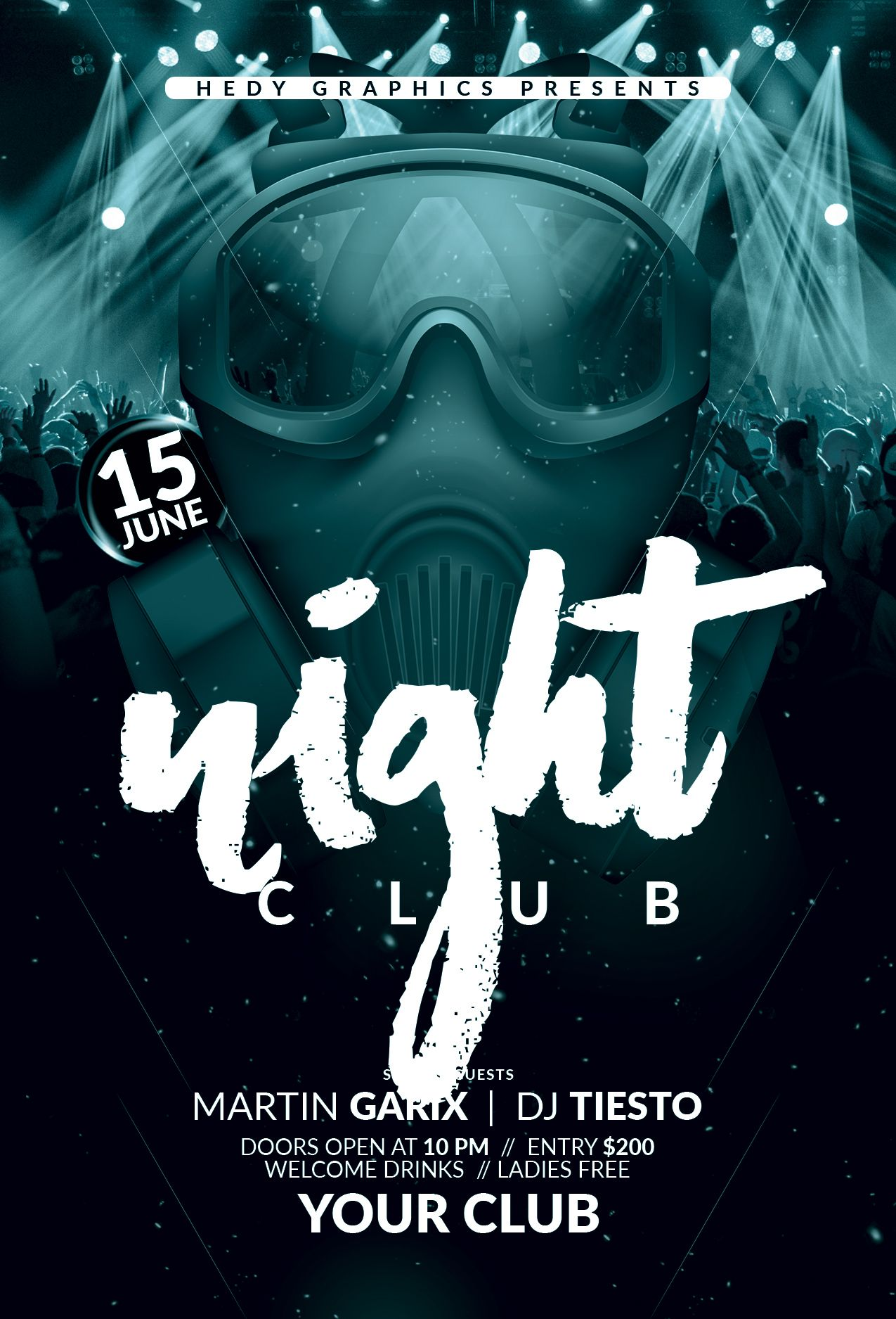 Night Club Flyer Template Screenshot 3