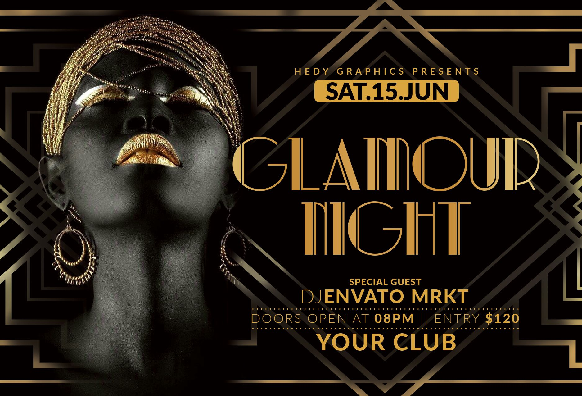 Glamour Night Flyer Screenshot 1