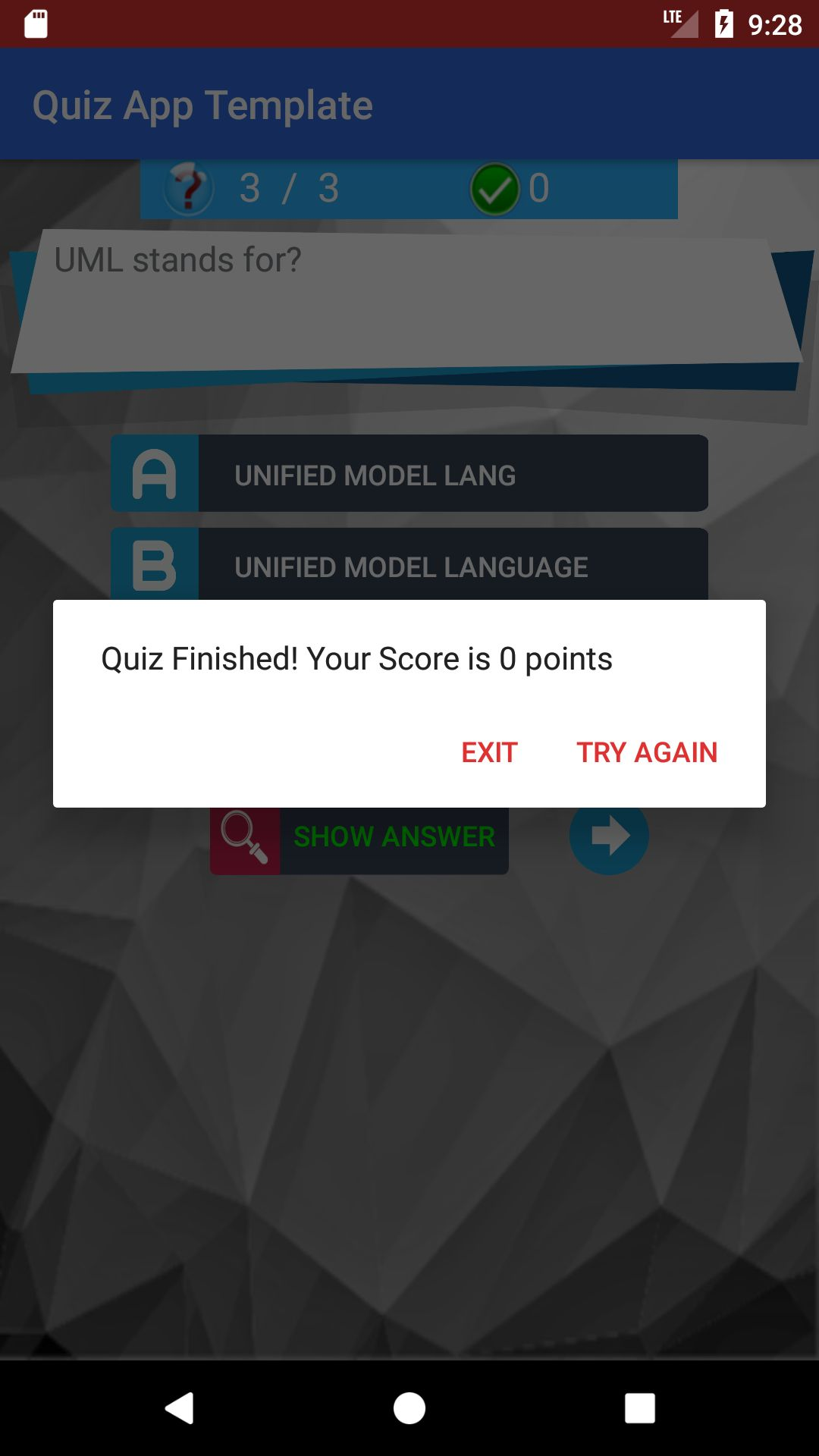 MCQs Quiz Android App Template Screenshot 4