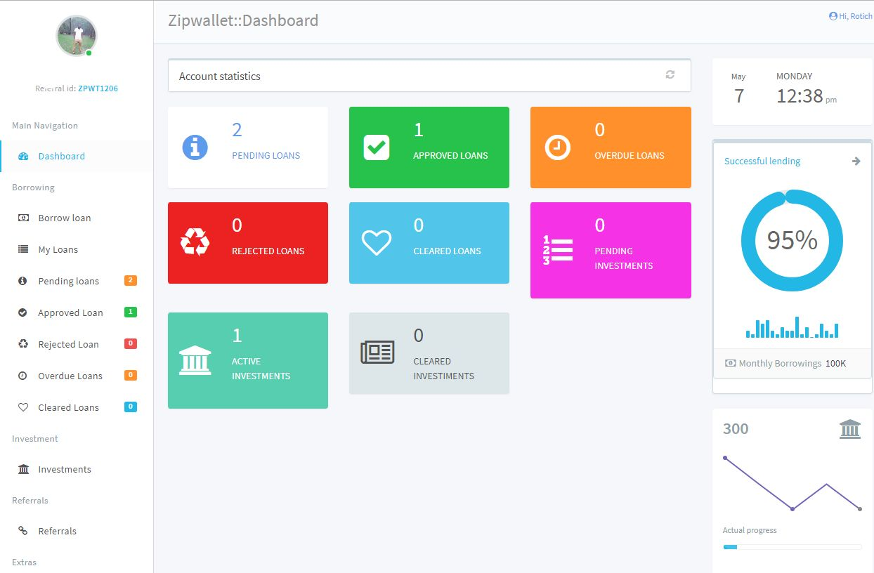 ZipWallet - Money Lending And Investment Platform Screenshot 1