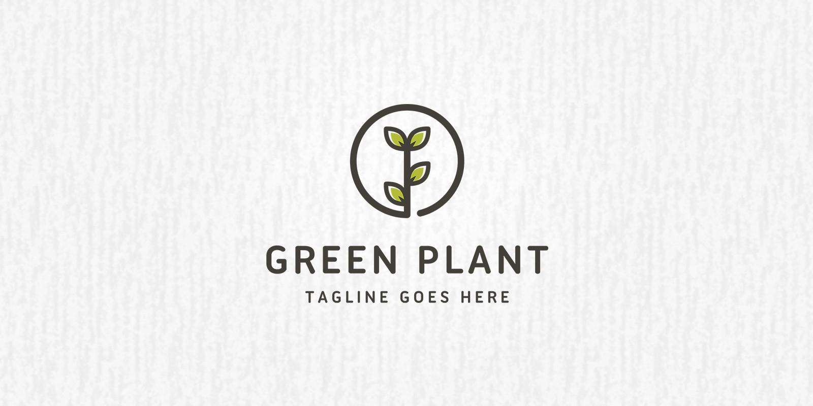 green plant logo template