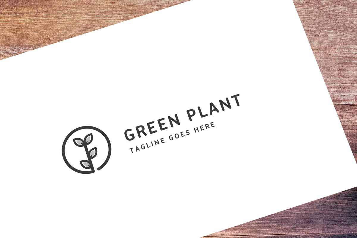 Green Plant Logo Template Screenshot 1