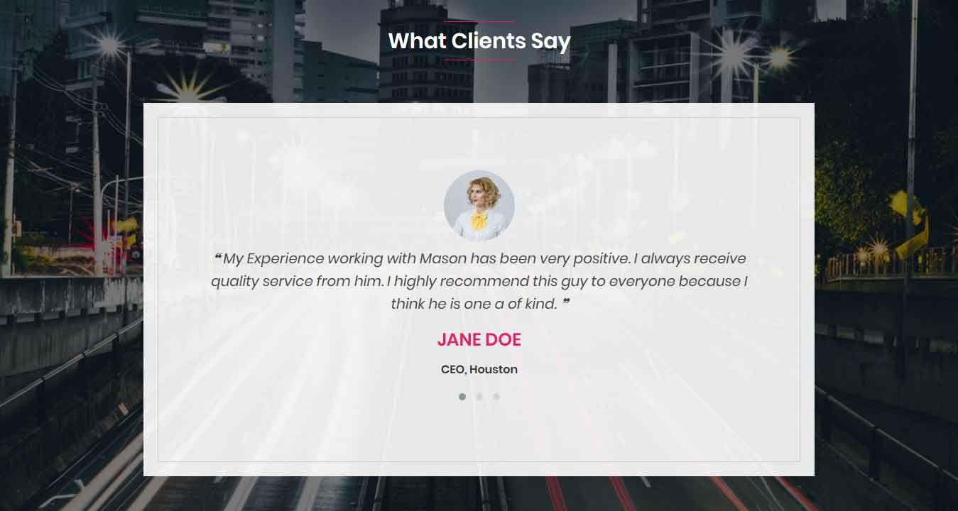 Mason Portfolio HTML Theme Screenshot 4