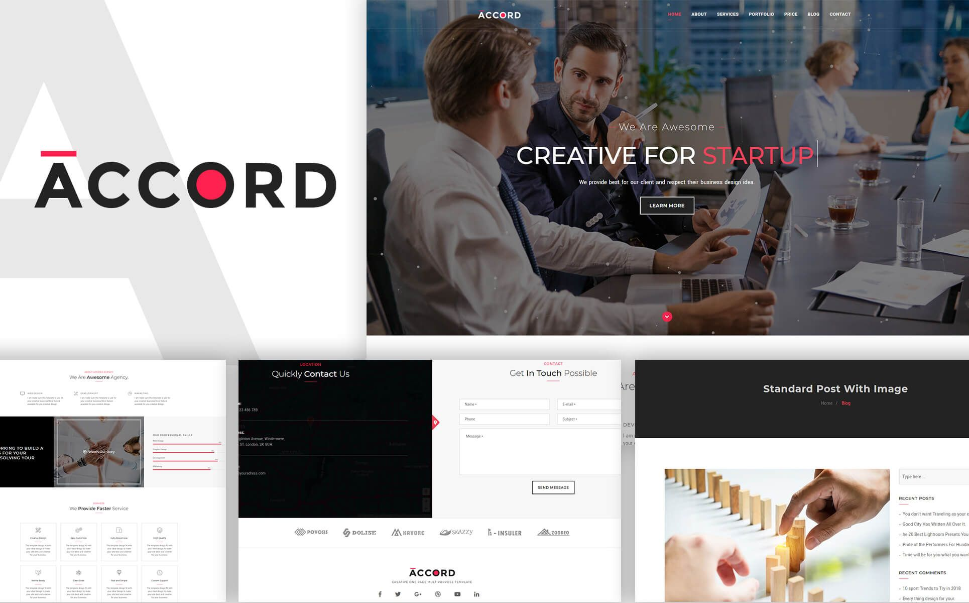 Accord - Creative One Page Multipurpose Template Screenshot 1