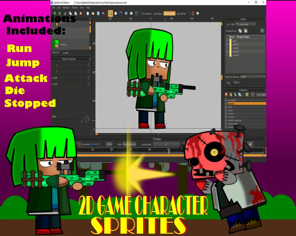 2D Game Character Sprites Screenshot 2