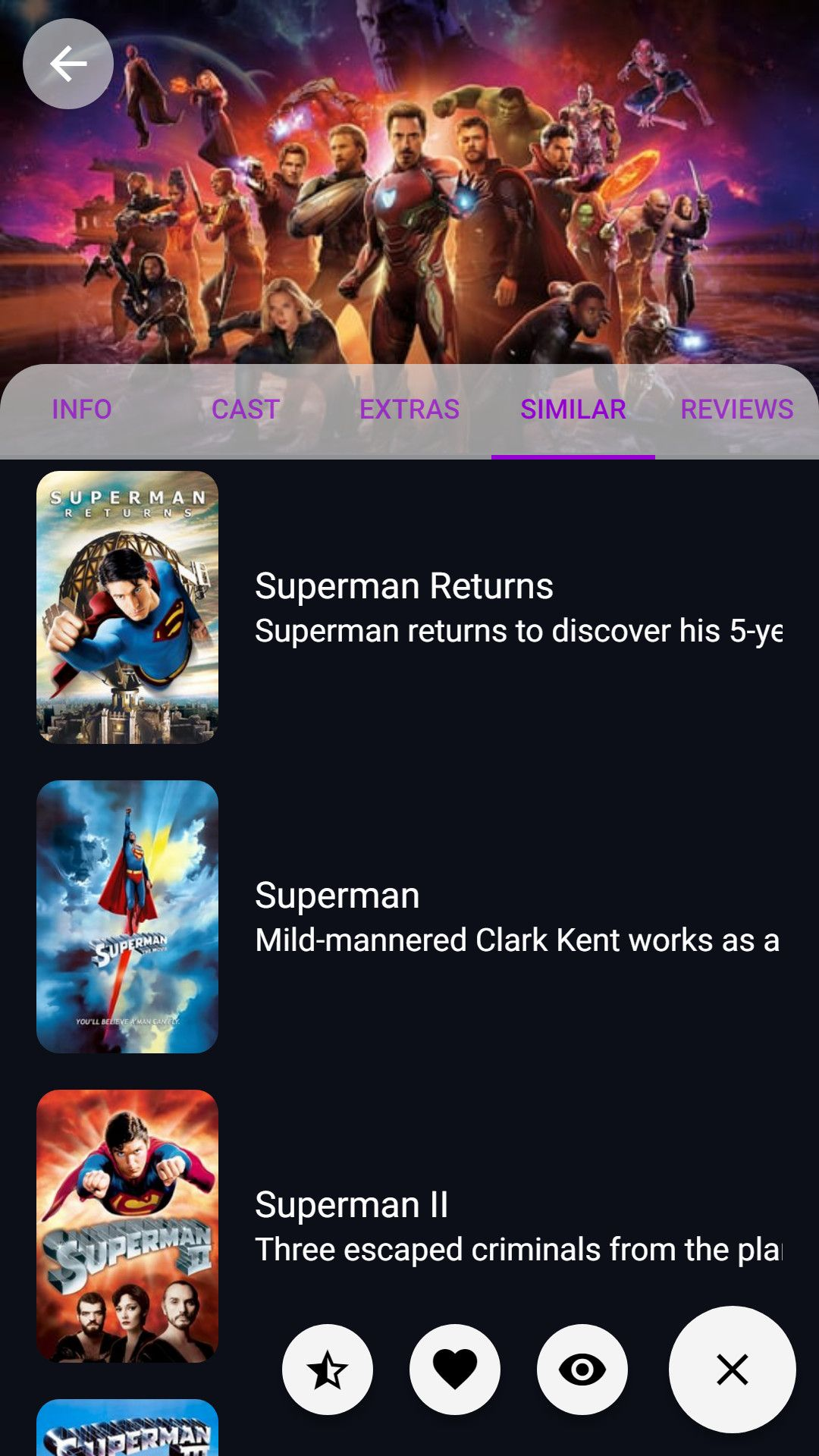 Personal Movie and TV Database Ionic Screenshot 4