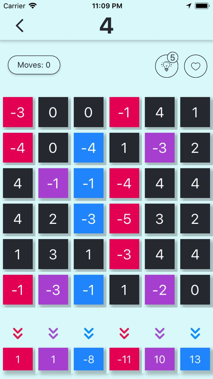 Make 1 Number Puzzle Game iOS Screenshot 2