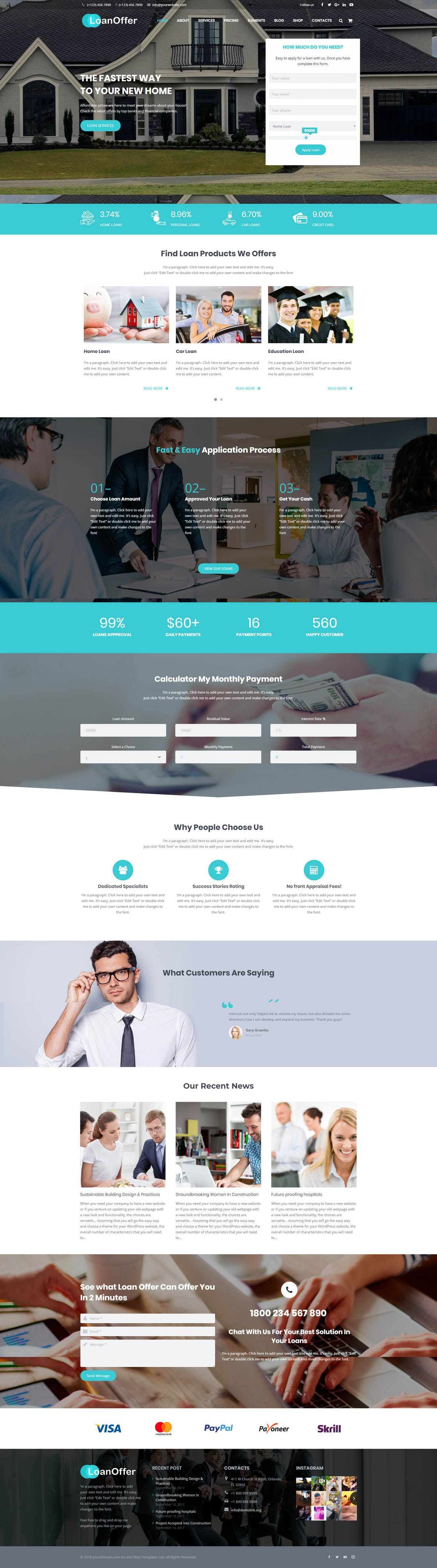 LoanOffer - Business Loan WordPress Theme Screenshot 2