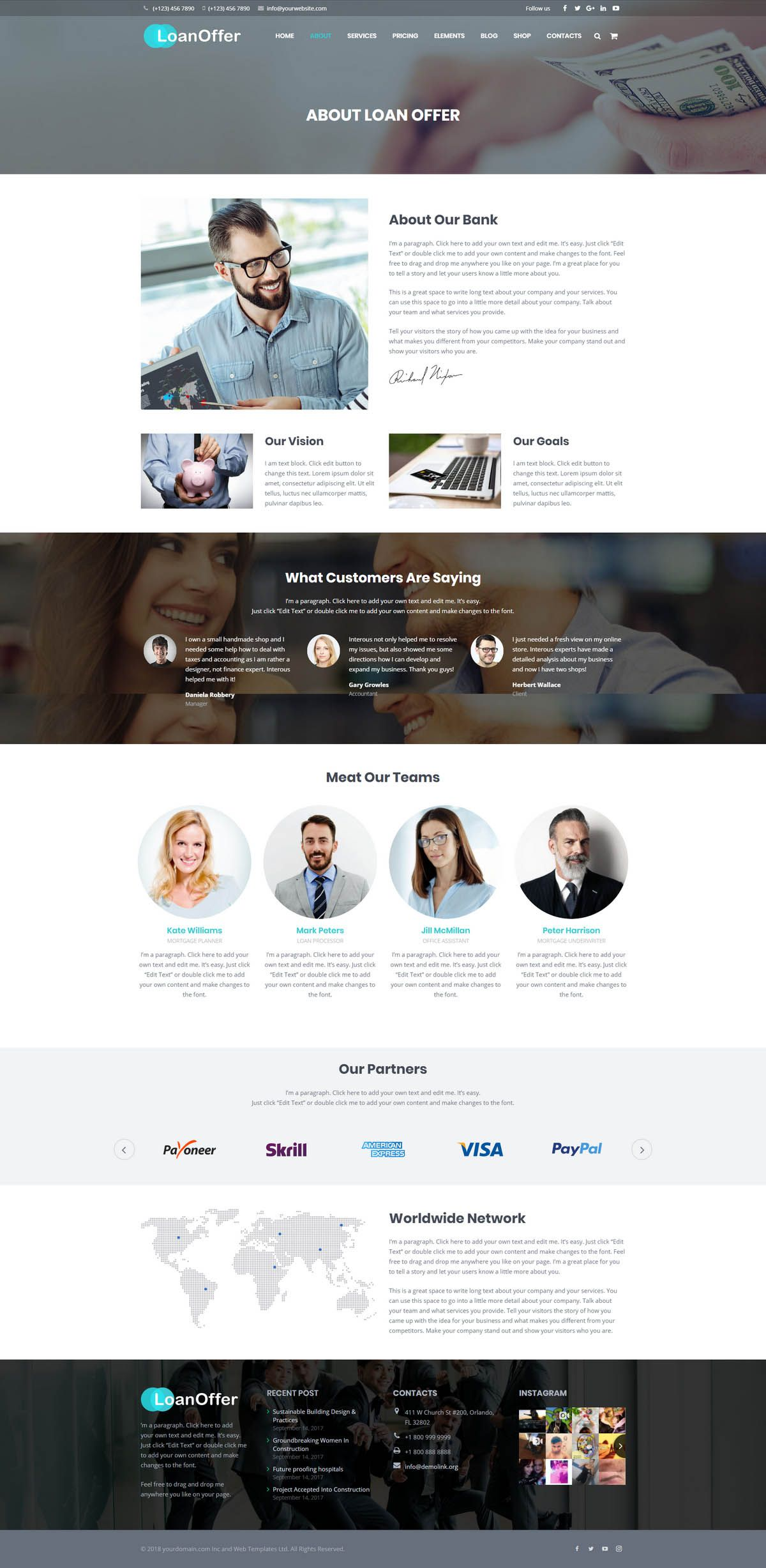 LoanOffer - Business Loan WordPress Theme Screenshot 3