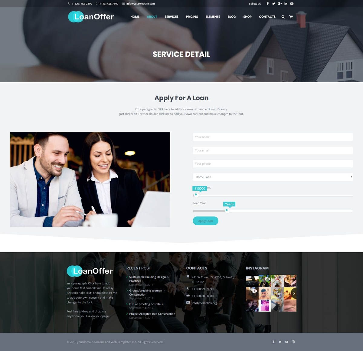 LoanOffer - Business Loan WordPress Theme Screenshot 4
