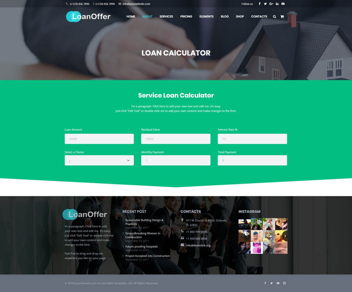 LoanOffer - Business Loan WordPress Theme Screenshot 5