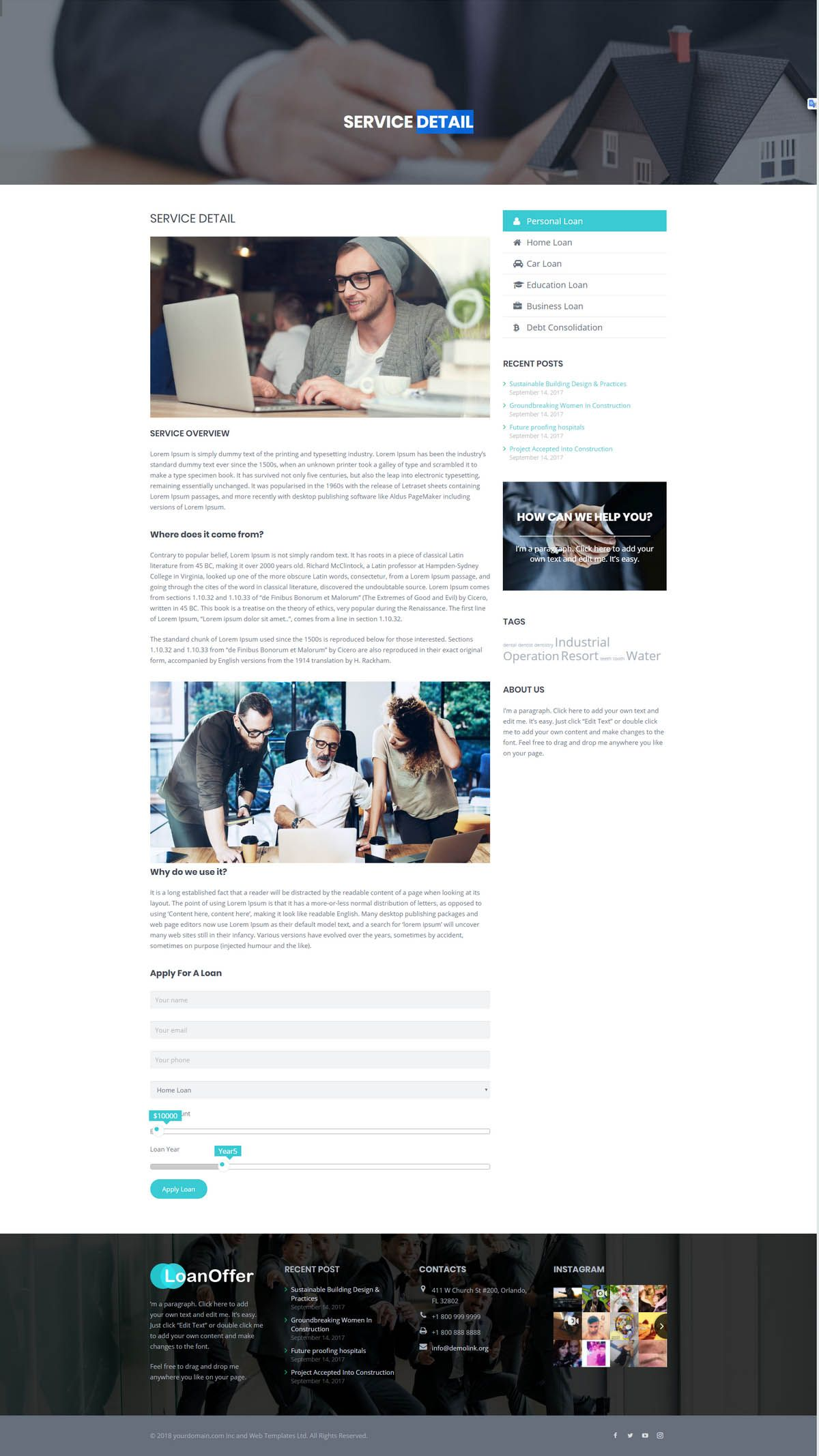 LoanOffer - Business Loan WordPress Theme Screenshot 7