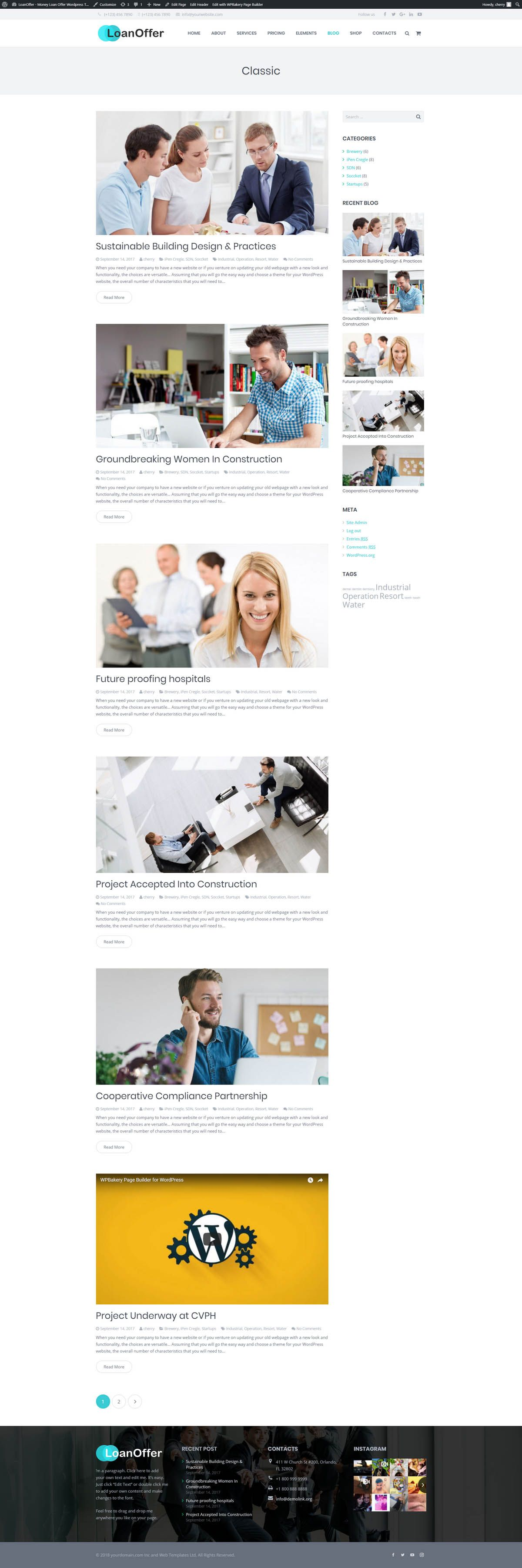LoanOffer - Business Loan WordPress Theme Screenshot 8
