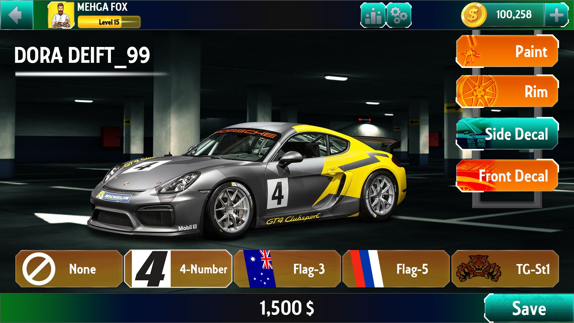 Racing Game Graphics CxS - GUI Skin 6 Screenshot 2