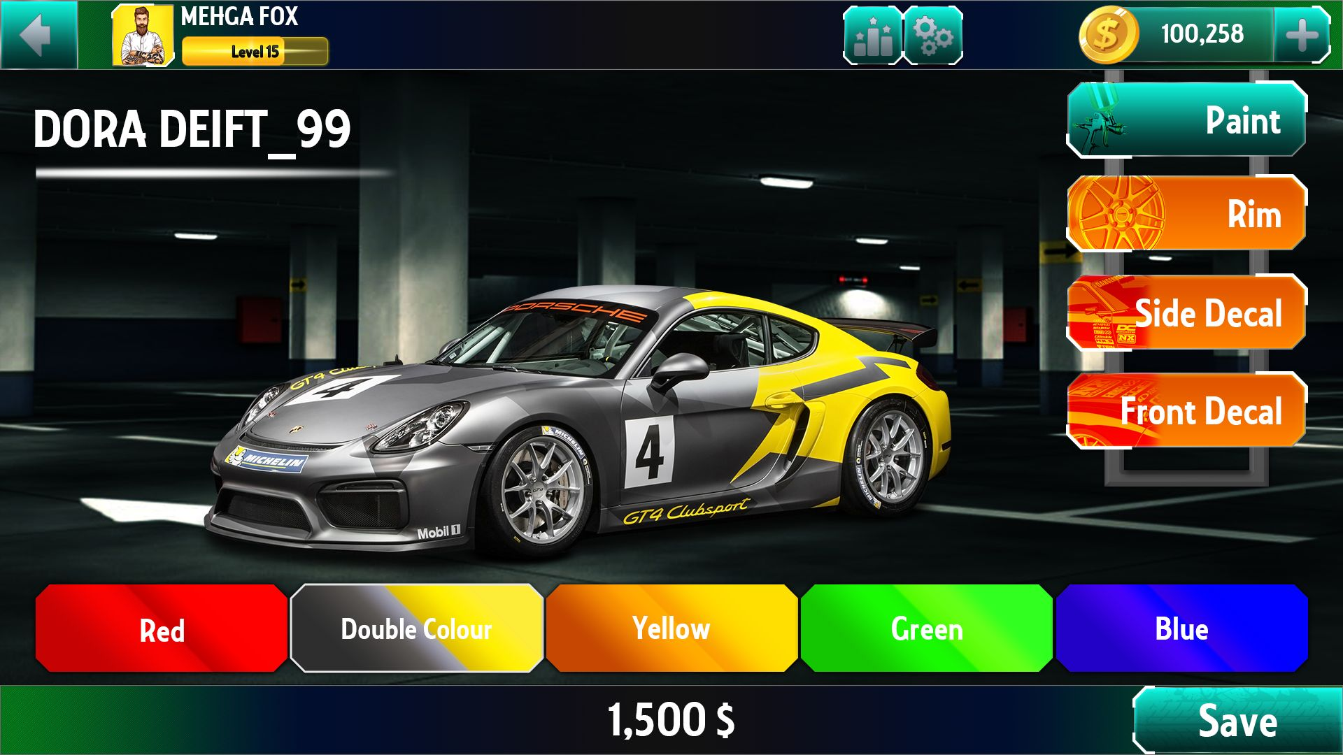 Racing Game Graphics CxS - GUI Skin 6 Screenshot 4