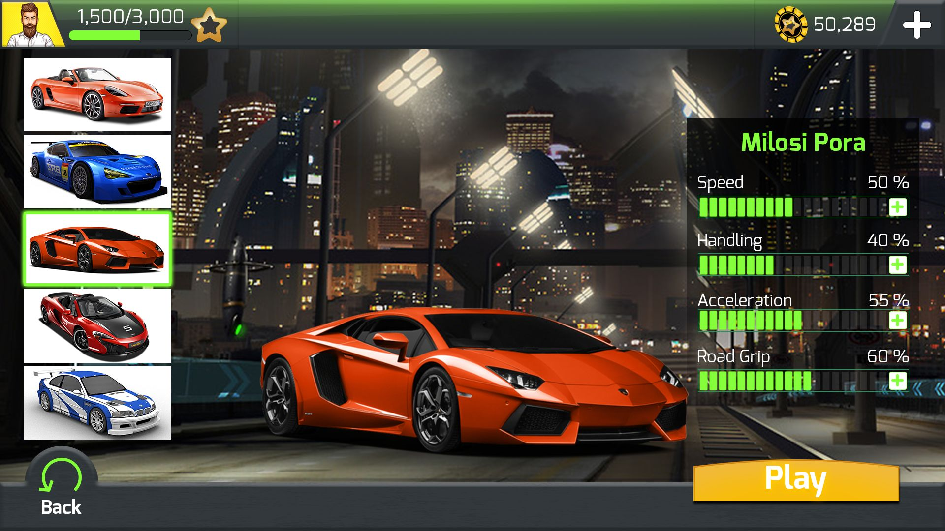 racing car game ui template pack 6 by gamebench