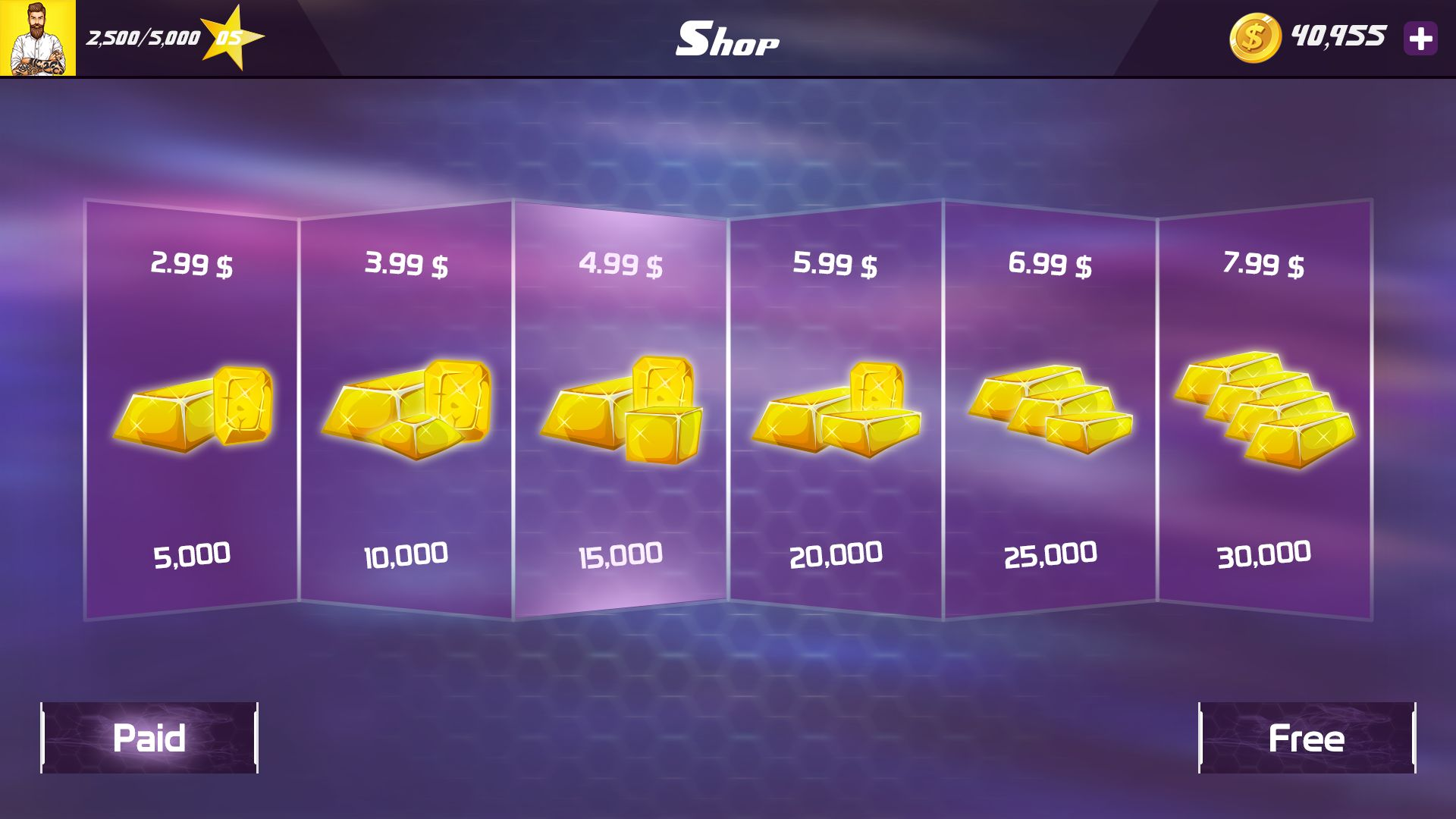 Racing Car Game UI Template Pack 7 Screenshot 11