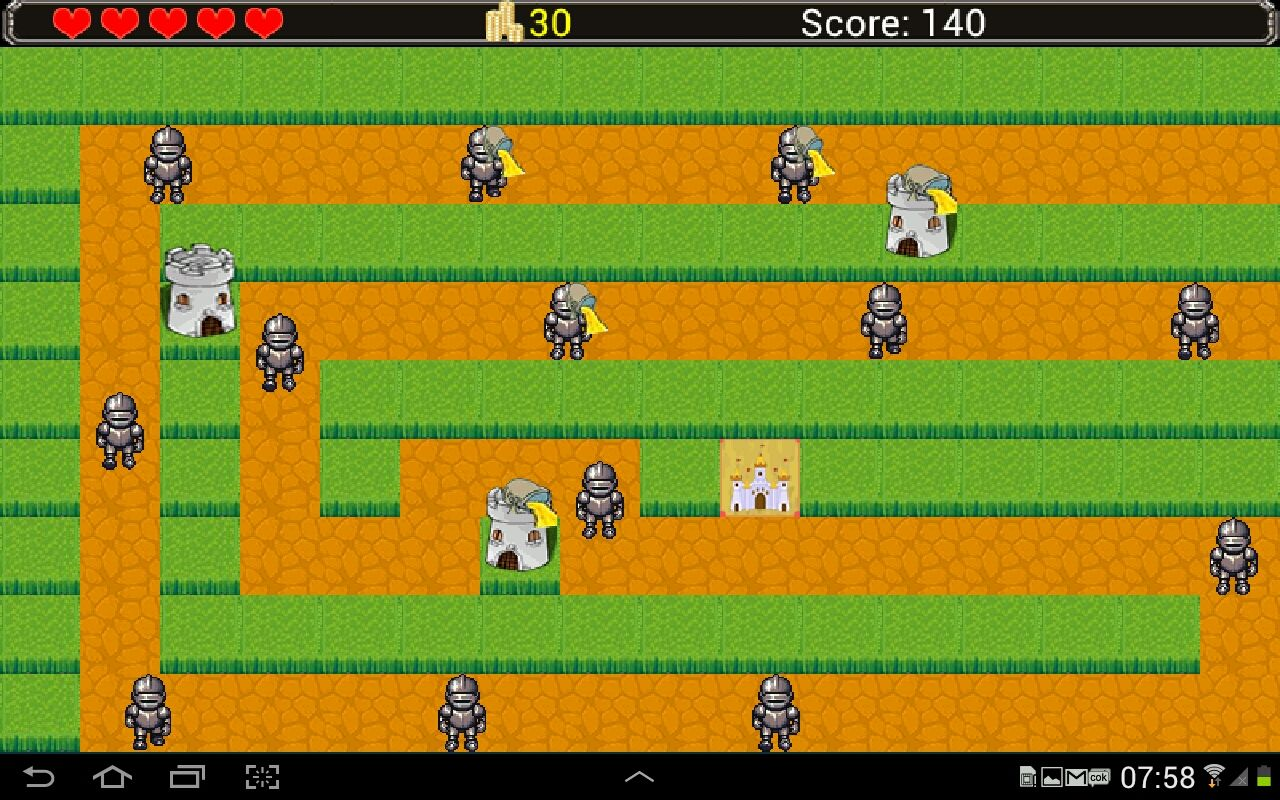 Castle Defense - Android Game Source Code Screenshot 2