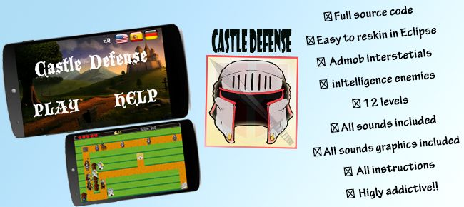 Castle Defense - Android Game Source Code Screenshot 4