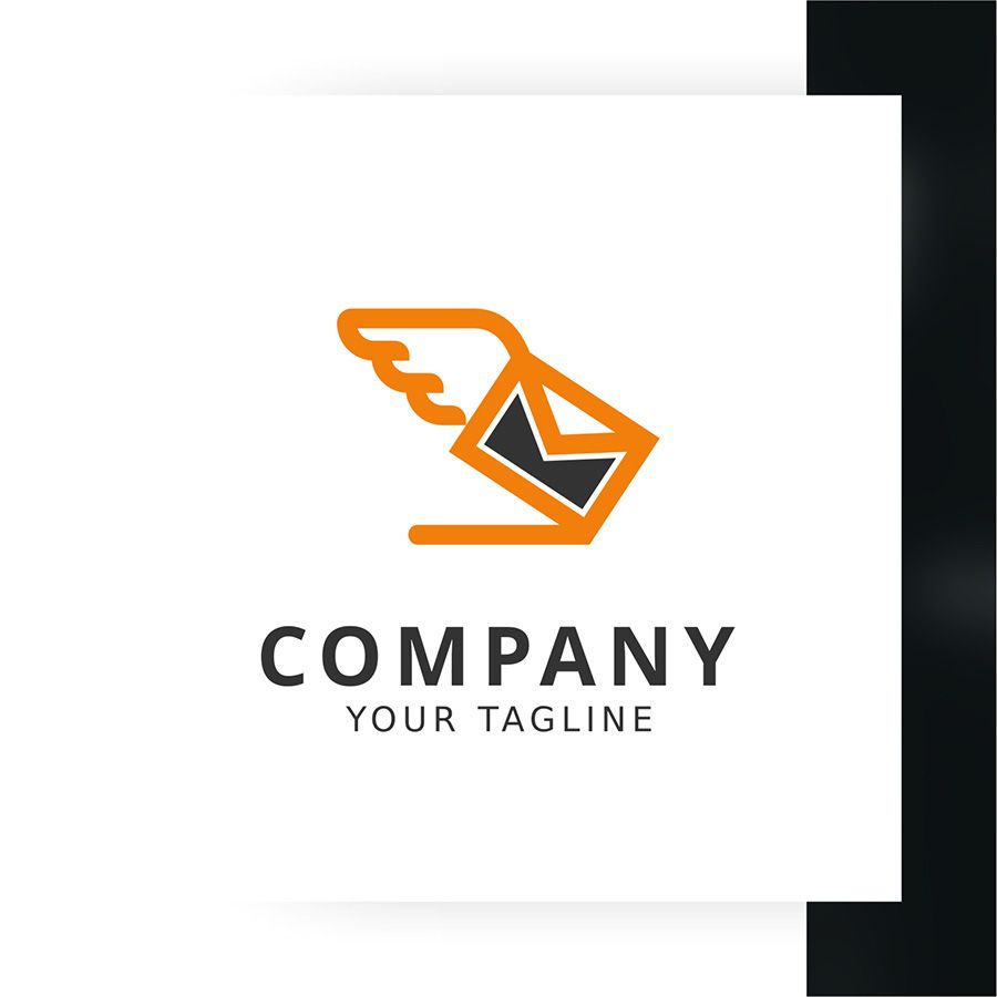 Flying Mail Logo Template Screenshot 2