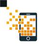 pixel-phone-logo-template