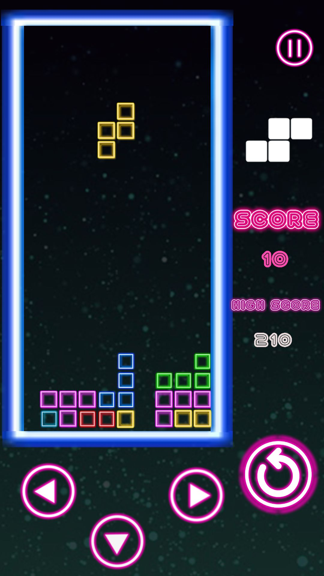 Classic Neon Tetris Complete Unity Project Screenshot 2