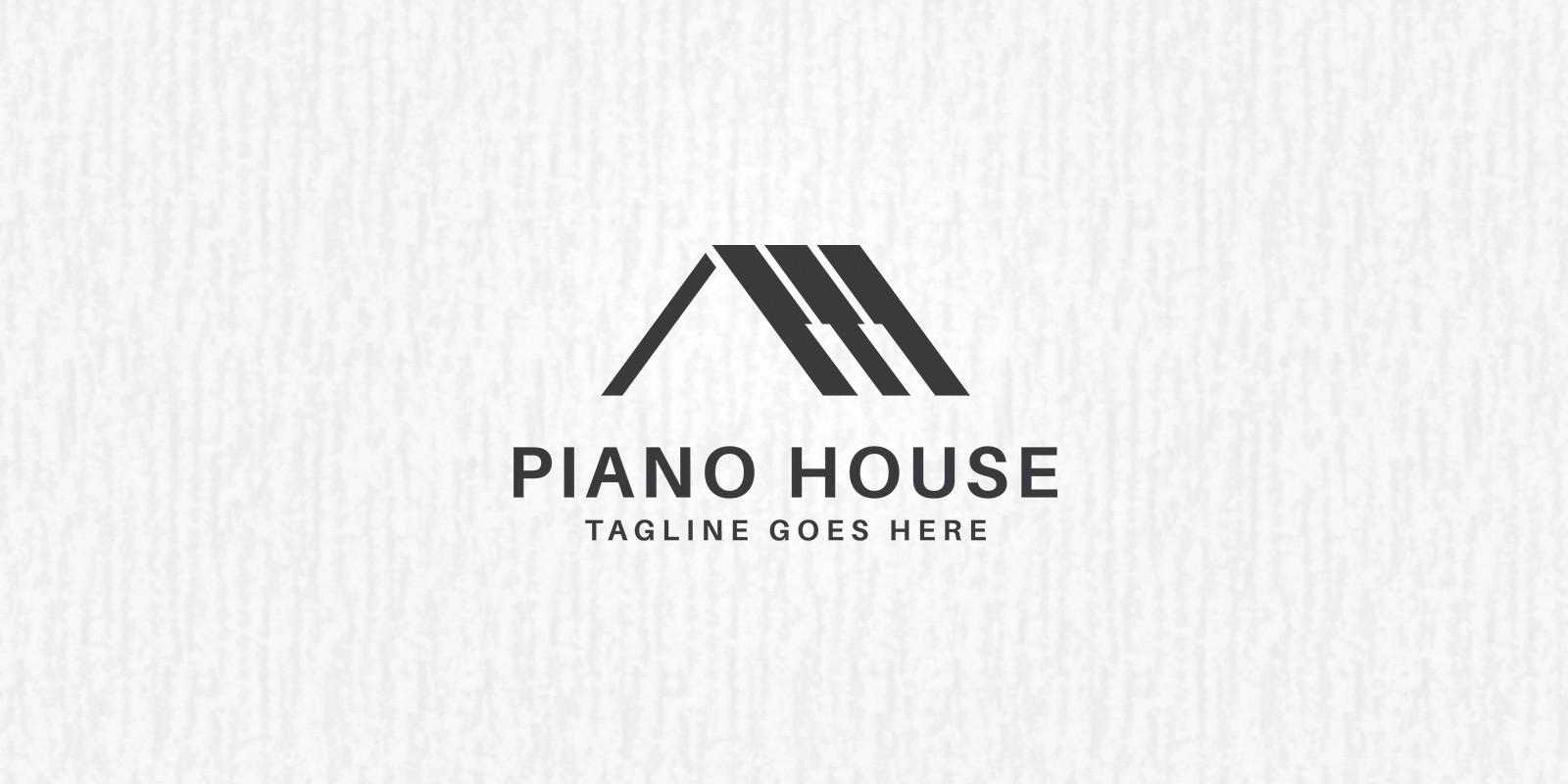 piano house logo template